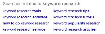 Google Results Related Searches