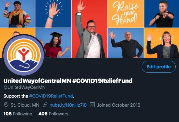 United Way of Central Minnesota Twitter bio