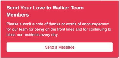 Walker Methodist Well Wishes Pop Up
