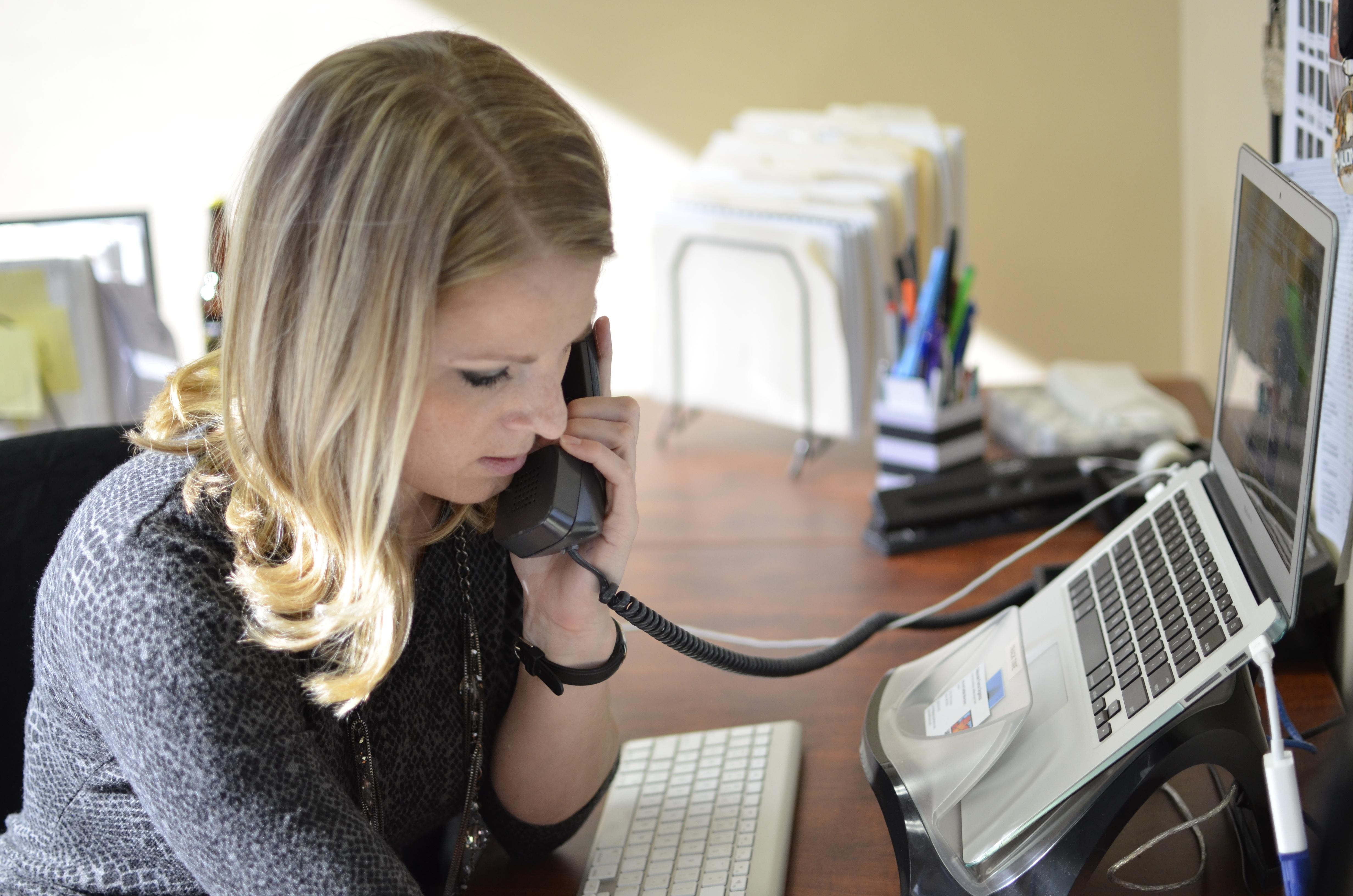 Jen Talking on the Phone