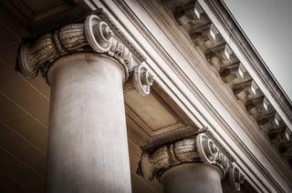 Pillars on a building