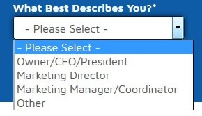 Persona Qualifying Question on an Email Capture Form
