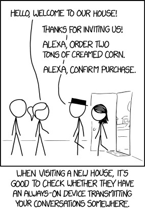 "XKCD Comic ""Always Listening"""