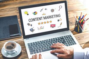 Content Marketing Laptop