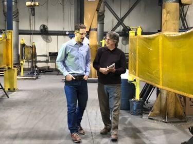 Bryan Virnig of Virnig Manufacturing on Production Floor