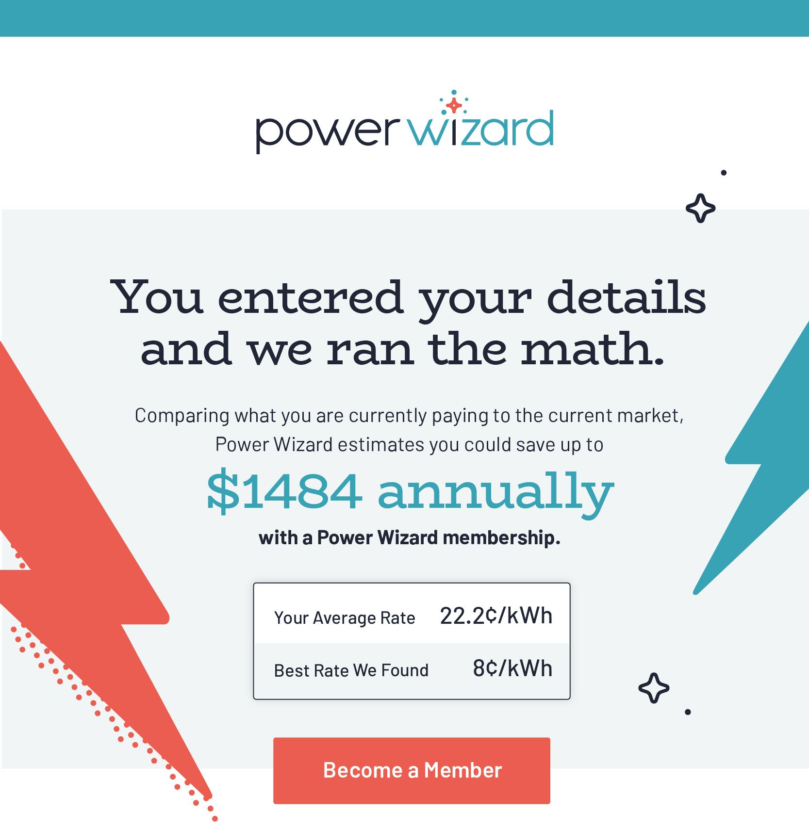 Power Wizard Email Mockup