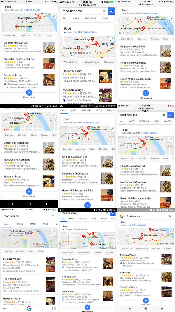 "The Humanization of Google, ""Food Near Me"" Experiment"