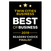 Twin Cities Business Magazine's 2019 Best of Business Reader's Choice Finalist