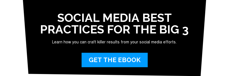 Social Media Best Practices for the Big 3  Learn how you can craft killer results from your social media efforts. Get the ebook
