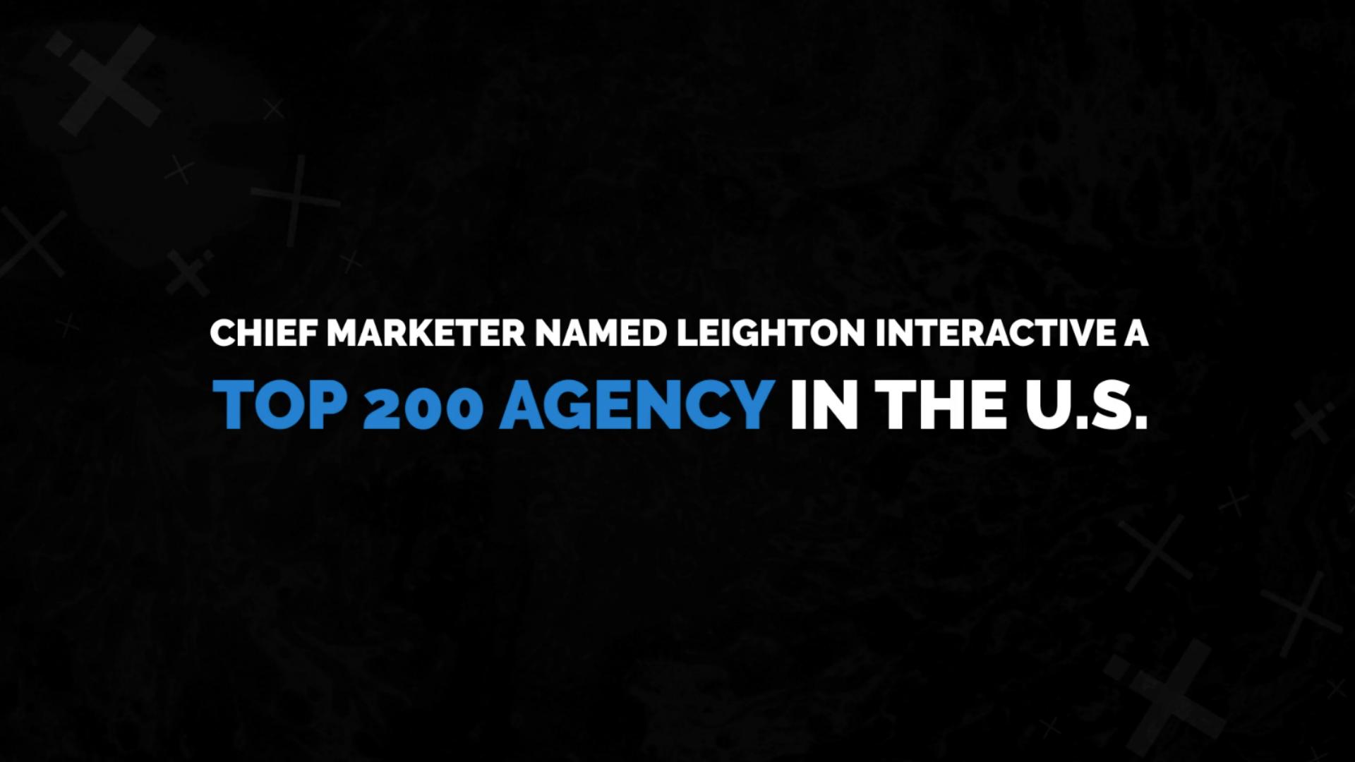 Chief Marketer Recognizes Leighton Interactive as a Top Agency